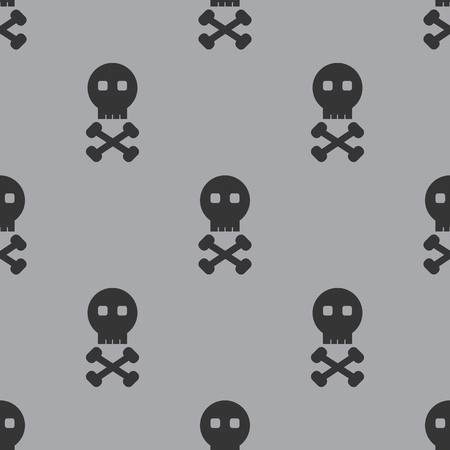 gamma: Skull and Bones Seamless Gray Gamma Pattern Background