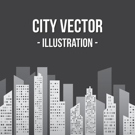 moon  metropolis: City in Shades of Gray Illustration