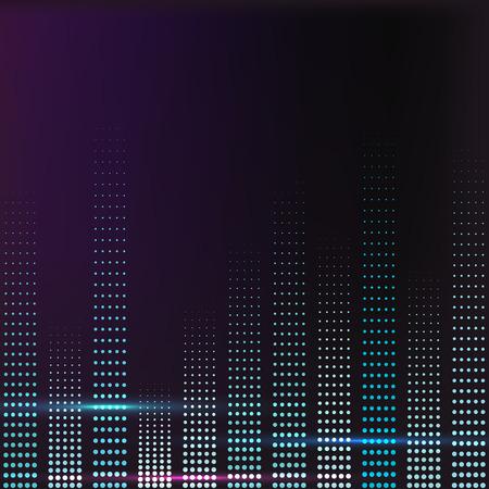 cd recorder: spectrum colorful music volume with lighting illustration Illustration