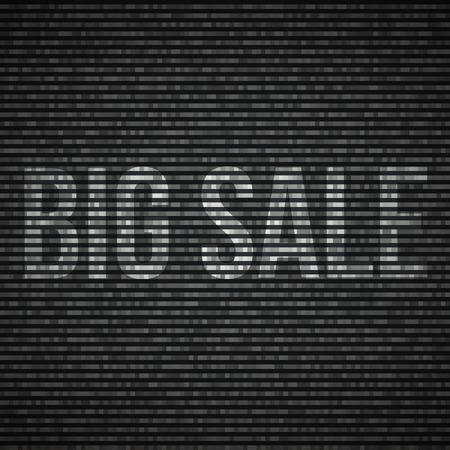 no signal: No signal TV illustration Interference screen. Big sale text.Vector illustration. Illustration