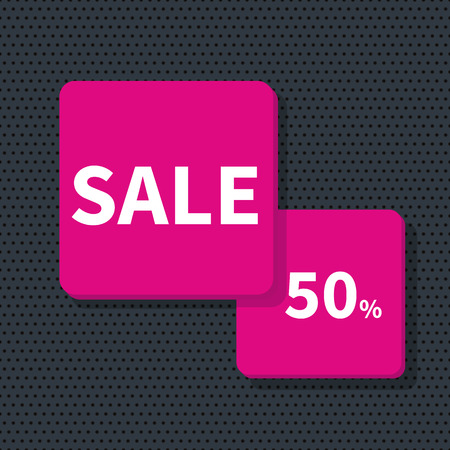 discount banner: Stock Vector Illustration. Sale banner - discount 50 off.