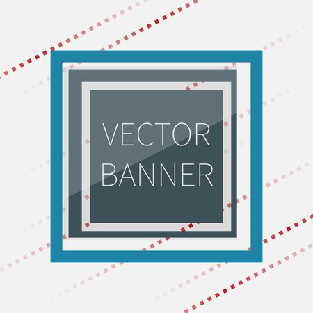 darck: Dark green glossy banner, with glass elements, vector illustration