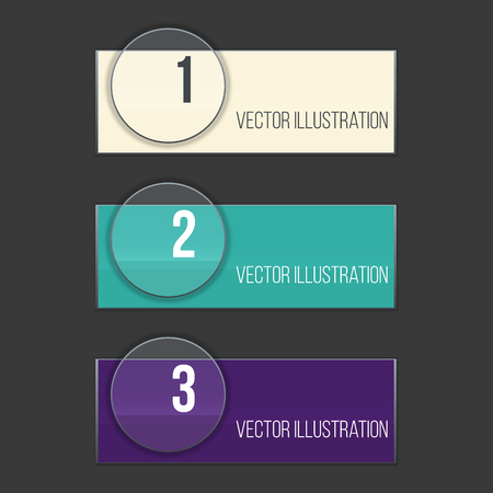 concave: Set of Web banners for website or app or business. Vector illustration