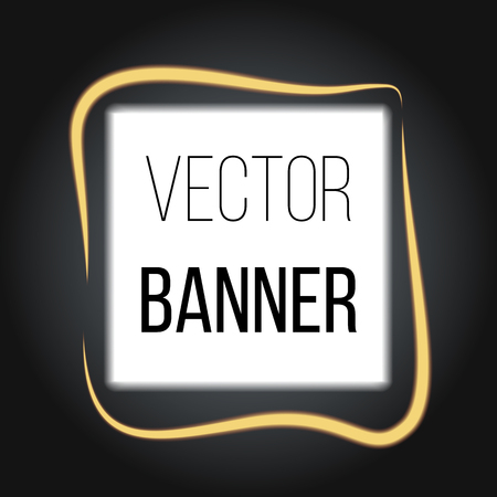 Square Banner with Blur Effects on dark background. Vector for your artwork