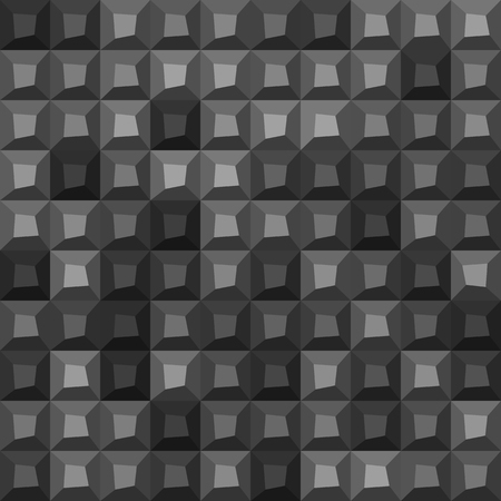 surface: Many gray shades abstract tiling geometric texture. Black light and dark grey and white color mosaic tile background. vector art image pattern.