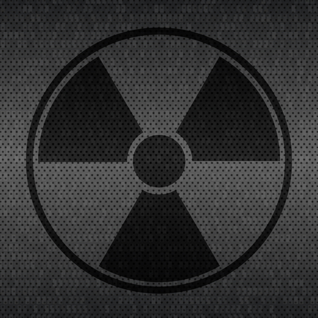 gamma: Radiation sign on dark gray background. Vector Illustration Illustration