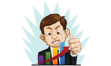 good job: business man happy