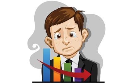 stock trader: business man  unhappy   Illustration