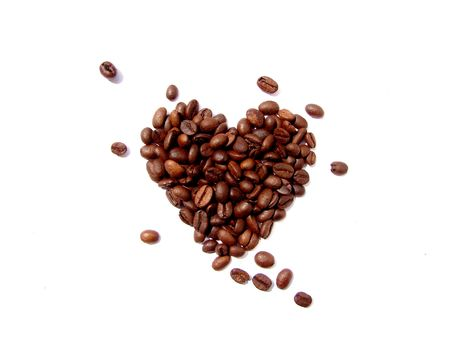 Coffee beans heart Stock Photo - 13831116
