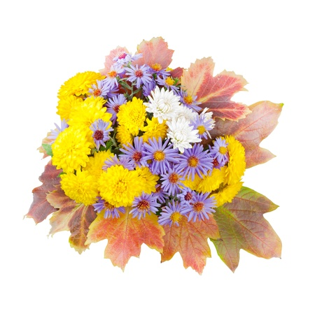 autumn bouquet isolated on white background