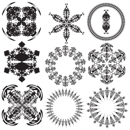 Set of mandalas on a white background  Vector  Stock Vector - 17966844