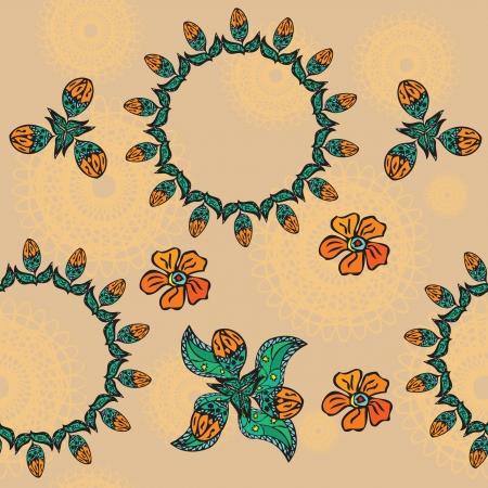 Seamless floral texture  Vector Stock Vector - 17966851