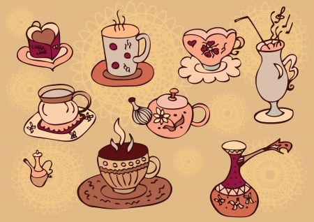 Coffee  Icon set of sketches