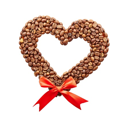 Coffee hearts  isolated on a white background