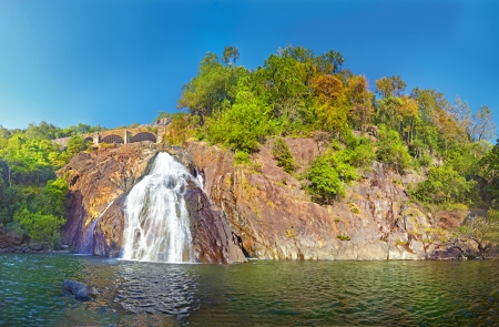 Dudhsagar falls. Bhagwan Mahavir Wildlife Sanctuary, GOA, India Stock Photo