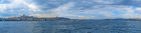 ISTANBUL, TURKEY- CIRCA APRIL 2014: View from the region Sultanahmet to Karakoy and Galata Tower