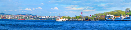 ISTANBUL, TURKEY -- CIRCA APRIL 2014: Vview of Istanbul from the Galata Bridge