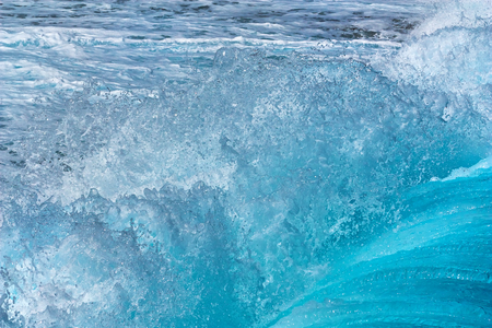 Beautiful powerful sea wave. Abstract water background.