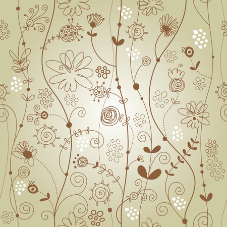 seamless floral pattern Stock Vector - 5998198