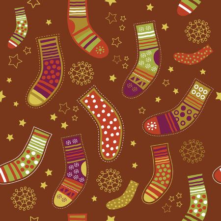 seamless christmas pattern Stock Vector - 6015854