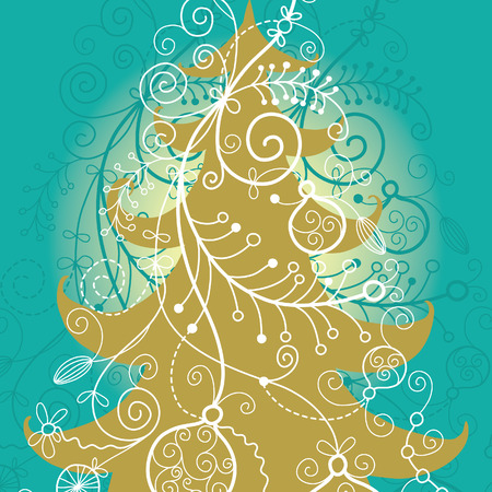 christmas  tree,beauty christmas card Vector