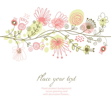 floral background, greeting card Illustration