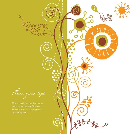 floral background, greeting card Vector