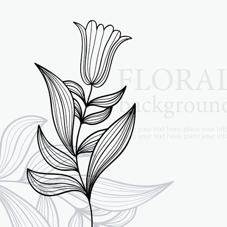 tulips: floral background
