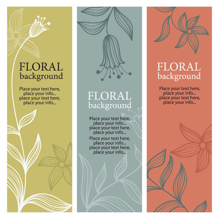 vertical floral banners