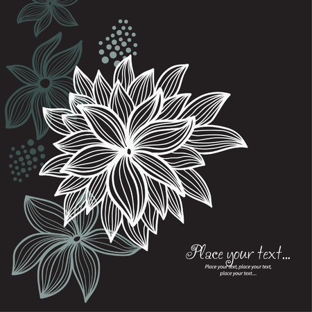 gray flower: floral background