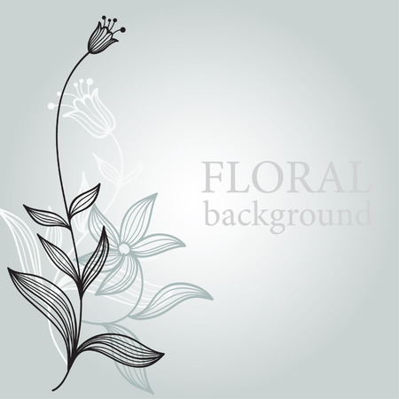 tulip  flower: floral illustration Illustration