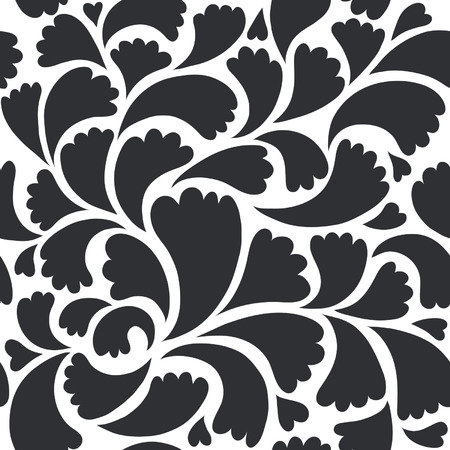 stencil:  seamless floral background
