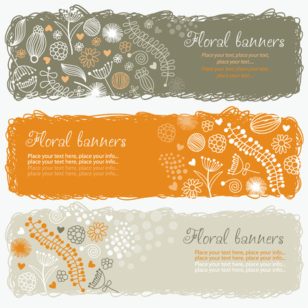horizontal floral banners Stock Vector - 6690413