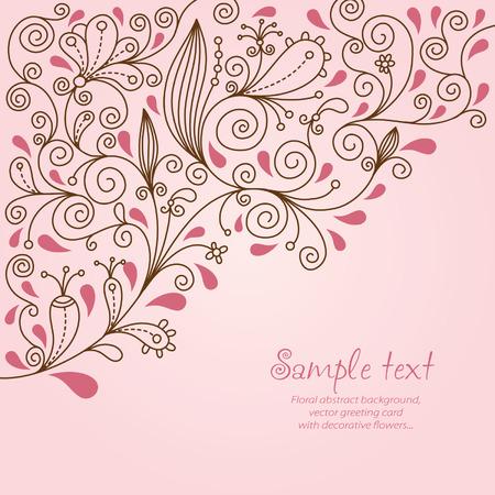 pink wedding: elegant floral background