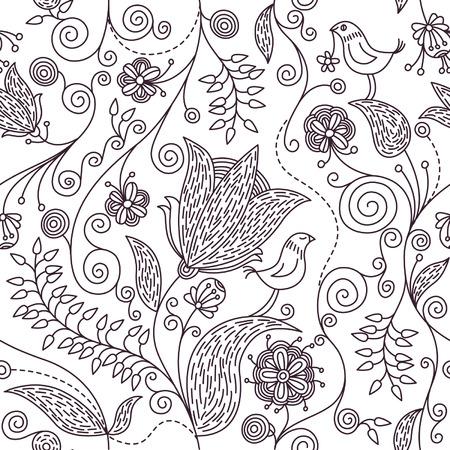 eleg�ncia: fundo floral sem emenda