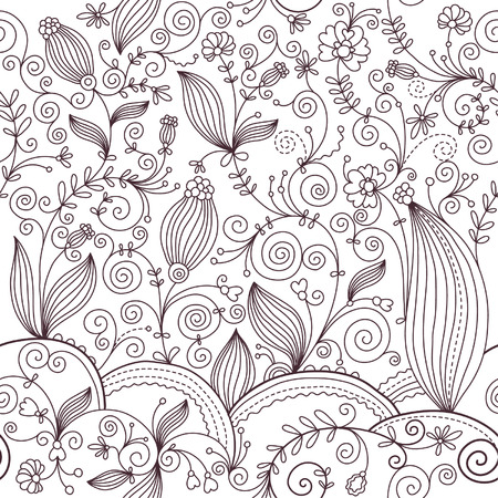 seamless floral background Stock Vector - 6690417