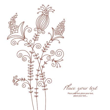 floral ornament: floral illustration Illustration