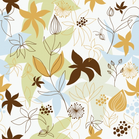 seamless floral  background Stock Vector - 17035969