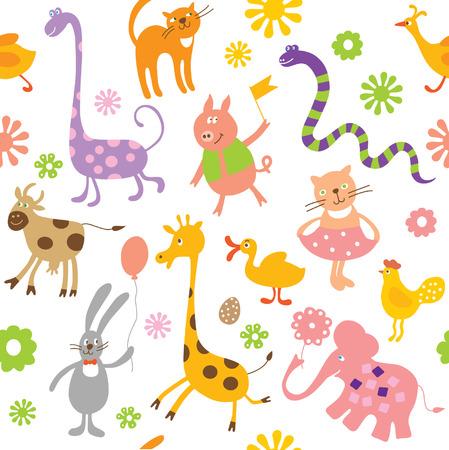kids seamless pattern Illustration