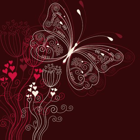 romanticismo: elegante floral background