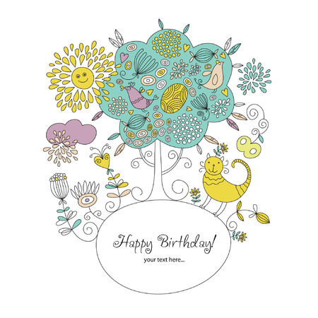 Greeting card with place for your text Stock Vector - 7294587