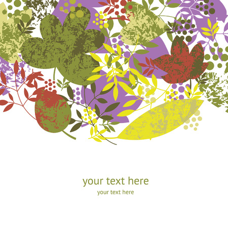 październik: odbarwieniem liści na białym tle