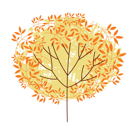 autumnal  tree Stock Vector - 7448789