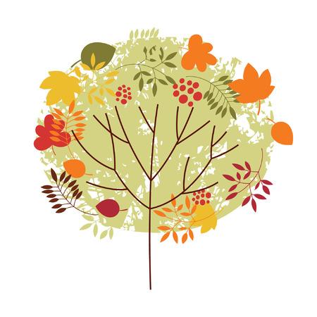 autumnal  tree Stock Vector - 7448786