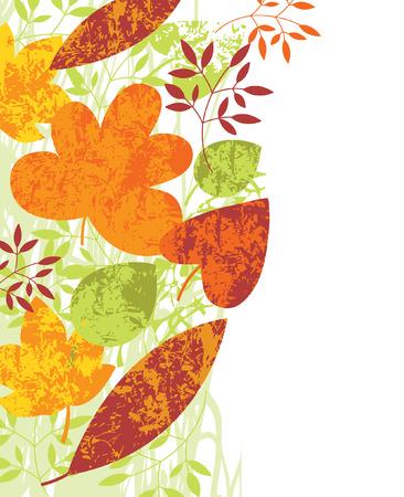 vertical autumnal  background