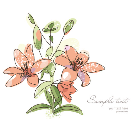 gentle: greeting card or invitation, romantic flower