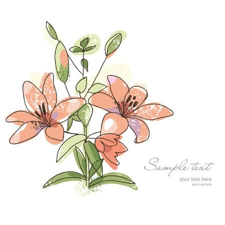 de lis: Saludo de la tarjeta o la invitaci�n, la flor rom�ntica
