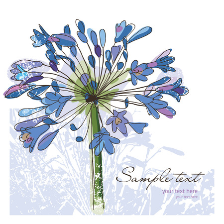 delicate: flower for your greeting card or invitation