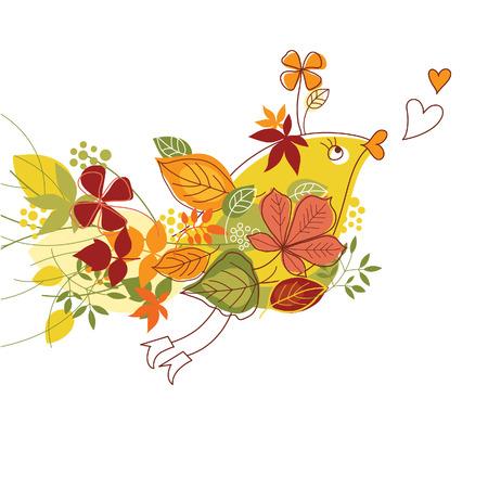 autumn, fanny bird Stock Vector - 7511740