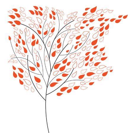 albero stilizzato: autunno albero stilizzato Vettoriali
